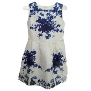 CRFS Blue Flowers and White Dress